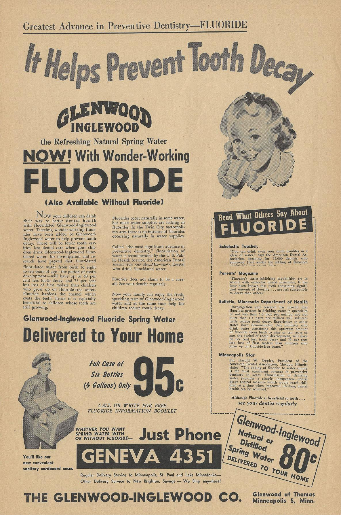 Back in the day, the Glenwood-Inglewood Company did a swell job at letting people know the benefits of drinking their fresh spring water.