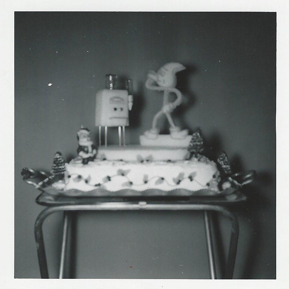 A cake from the Glenwood Inglewood Company Christmas party in 1955